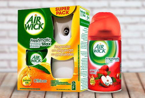 Pack Air Wick Freshmatic + 2 Refill Cítrico y Manzana-Canela
