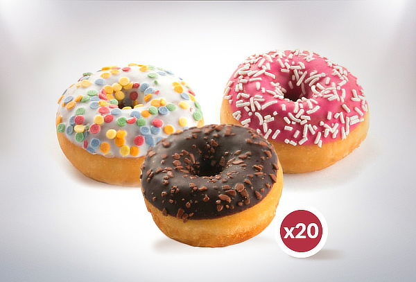 20 Minidonuts + 20 Minicupcakes + 20 Minichic, Puente Alto