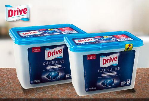 Pack 2 Detergentes Cápsulas Drive, 40 Unidades