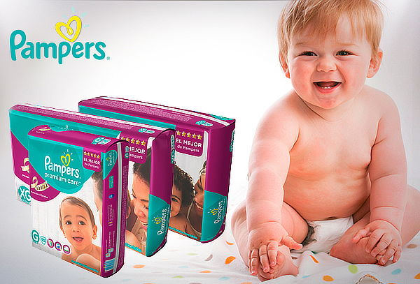 Pack 2 Paquetes Pañales Pampers Premium Care