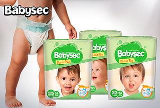 Pack 4 Paquetes Pañal Babysec Classic Plus
