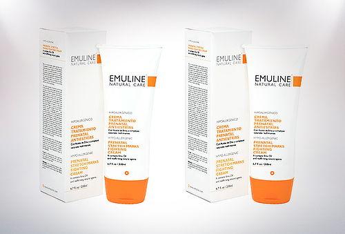 Pack 2 Cremas Antiestrías Prenatal 200 ml, Emuline®