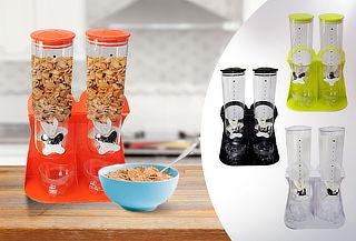 Dispensador Doble de Cereal, Color a Elección