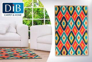 Alfombra Multicolor Dib Ikat Fashion 80 x 120 cm