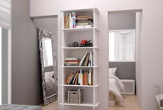 Librero de 5 Divisiones, Color Blanco