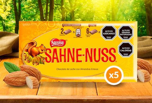Pack 5 Chocolates Sahne Nuss 250 g