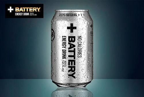 Pack de 6 u 12 latas de Energética Battery No Calories