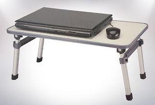 Mesa para Notebook Extensible y Plegable Blanca