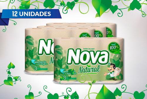 Pack de 12 Rollos Toalla Nova Natural 16 Metros