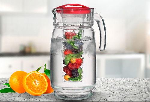 jarrn de vidrio para ccteles o frutas