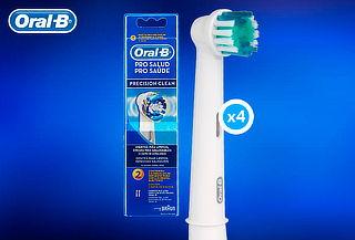 Pack 4 Repuestos de Cepillo Eléctrico Oral-B