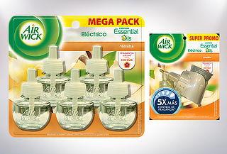 Aromatizador Eléctrico Air Wick + Pack 5 Recargas