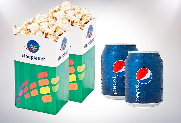 2 Entradas HD + 2 Bebidas Chicas + 2 Popcorn Chicos