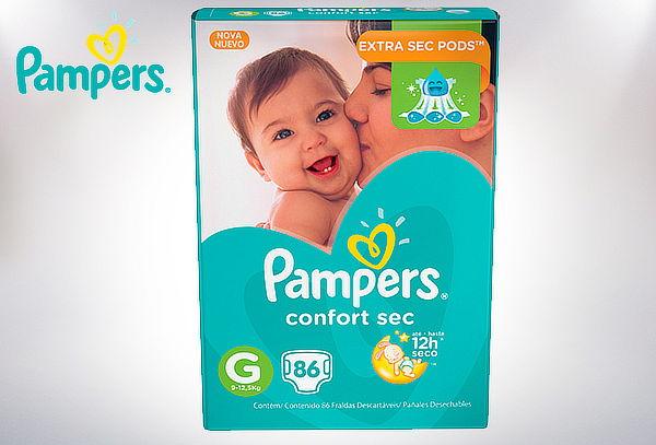 Pack Pañales Pampers Confort Sec