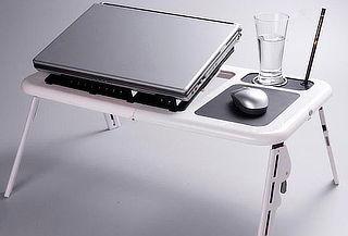 Mesa Portátil con Ventilador para Notebook