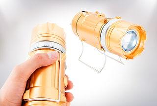 Linterna Recargable con Cargador Solar