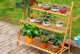 Repisa Reclinable de Bambú para Terraza