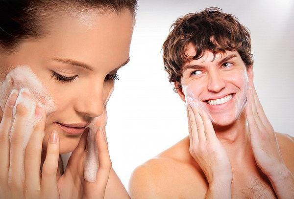 Resultado de imagen para limpieza facial hombre y mujer