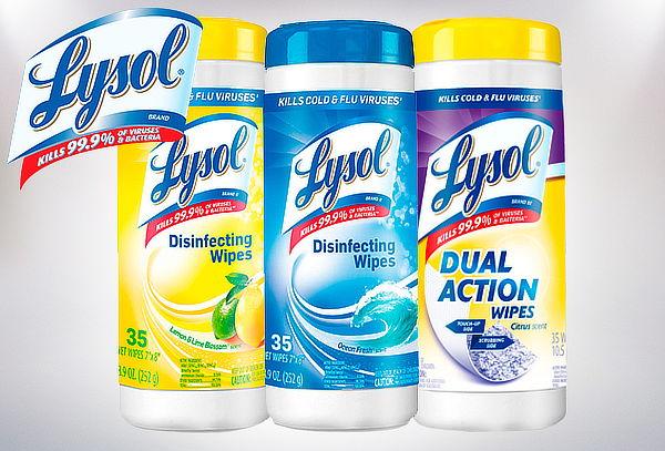Tripack Toallitas Desinfectantes Wipes Lysol