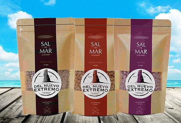 Pack 3 Unidades Sal de Mar Saborizada, 210 g c/u