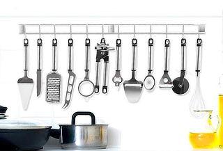 Set de 12 Utensilios de Cocina más Barra Metálica