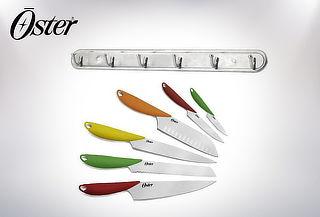 Set de Cuchillos Multicolor + Colgador, Oster