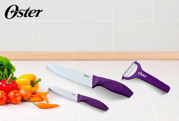 Set de 2 Cuchillos + Pelador Oster