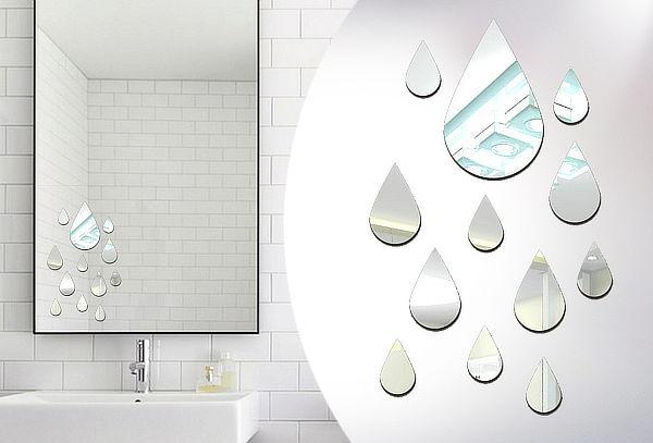 Stickers de Espejo Decorativos Gotas