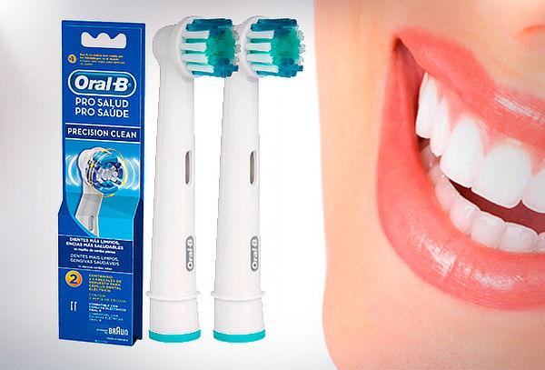 Pack 4 Repuestos Cepillo Eléctrico Pro Salud Oral-B