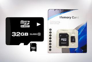 Tarjeta de Memoria + Adaptador 32 o 64 GB