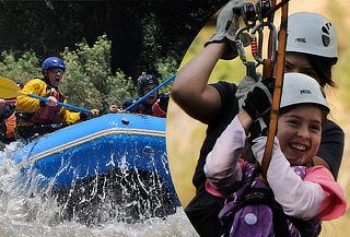 Canopy + Rafting + Zona de Asado, Cajón del Maipo