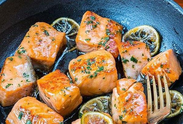 Orange Fish: 1 kg de Salmón en Cubos
