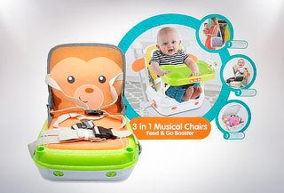 Silla de Bebé Transportable Musical 3 en 1