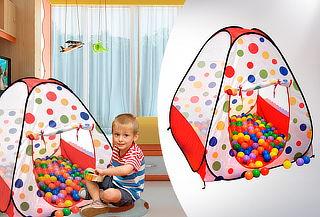 Carpa para Niños con 100 Bolas Plásticas