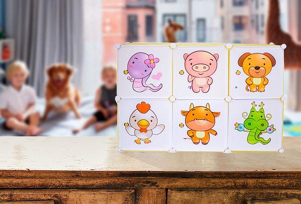 Organizador Modular para Niños, Diseño Animales