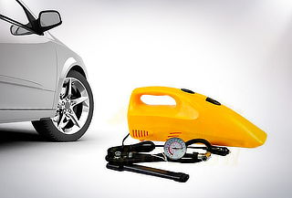 Aspiradora y Compresor para Auto