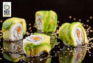 40, 66, 100 Piezas de Sushi + Bebida en Neo Sushi Fusión