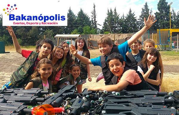 Cumpleaños para 20 o 25 Niños en Bakanopolis