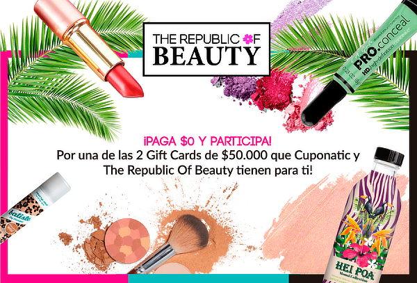The Republic of Beauty ¡Paga $0 y participa por 1 gift card!