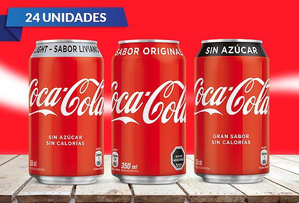 Pack 24 Latas Coca-Cola 350 cc a Elección