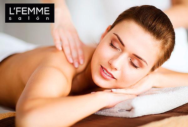 L'Femme Salón: Masaje de Relajación o Descontracturante