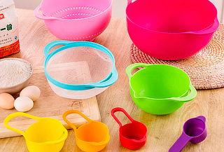 Set de Bowls de Diferentes Medidas y Colores