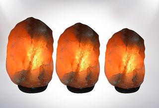 Lámpara de Sal Modelo Piedra, 2 Tamaños a Elección