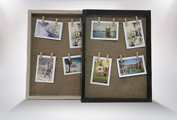 Marco para Fotos con Pinzas de Madera, Cuadros decorativos ...