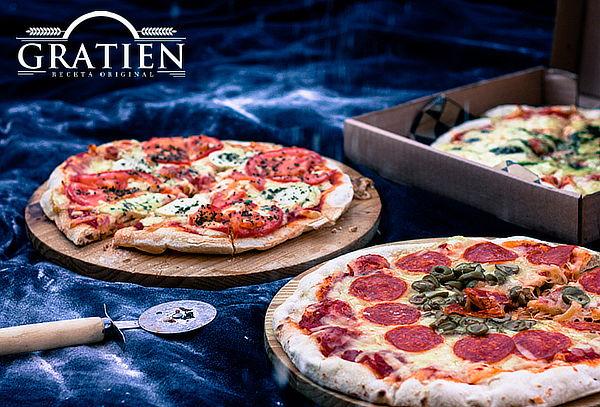 1 o 2 Pizzas a elección + 1 o 2 Quiches + 1 Bebida de 1.5Lts