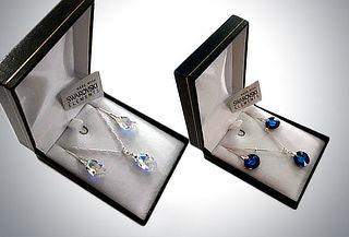 Conjunto aro y collar de Cristal Swarosvski