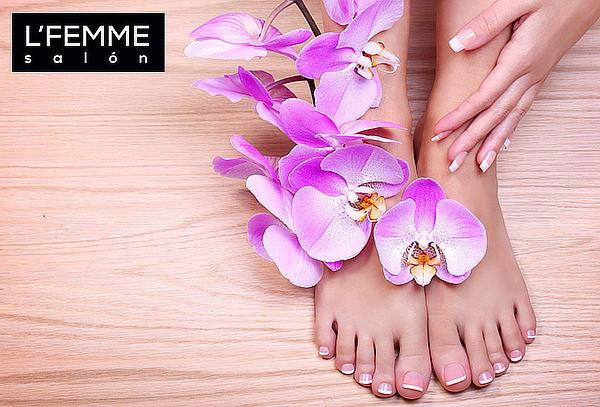 L'Femme Salón: Manicure + Pedicure Tradicional, Ñuñoa