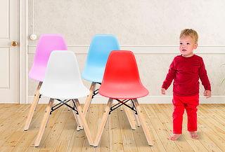 Silla Minimal para Niños, 4 Colores a Elección