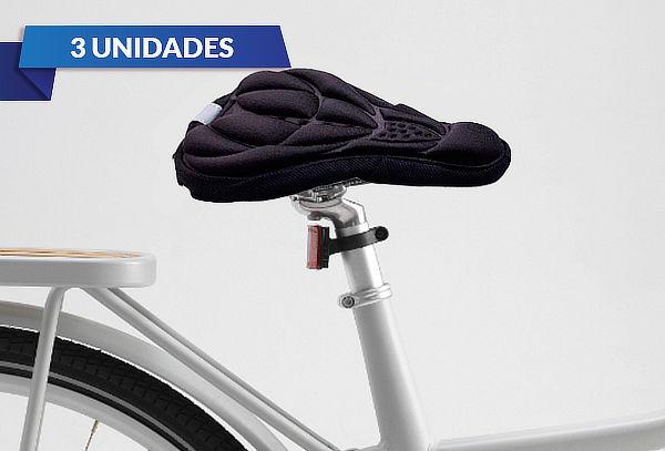 Pack de 3 Cubre Sillín para Bicicleta color Negro