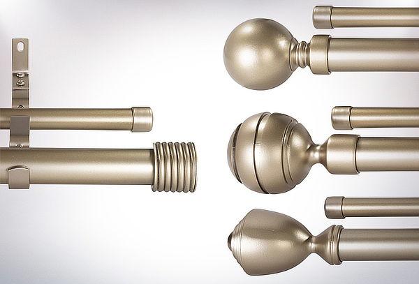 Set Barra Metal Extensible Color Bronce Envejecido